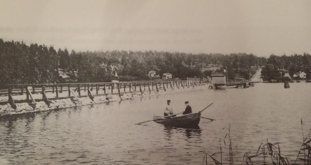 Nockebybron i början av seklet.... Foto: Stockholms stadsmuseum